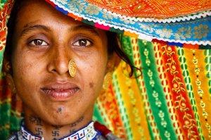 Portrait of Harijan Woman, Khavda Village, Kutch, Gujarat, India