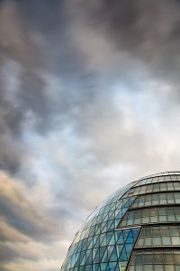 The iconic City Hall building, the home of the Greater London Authority, located in the Southwark Borough of London.