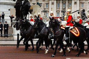 Trooping The Colour - the annual Queen's Birthday Parade held on Horse Guards Parade in London.