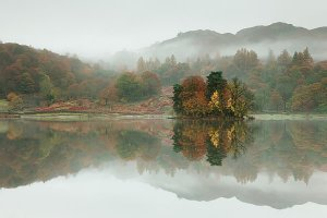 Autumn in Rydal, located near Grasmere within the English Lake District National Park.